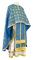 Greek Priest vestments - Lavra rayon brocade S3 (blue-gold), Standard design