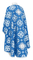 Greek Priest vestments - Kostroma rayon brocade S3 (blue-silver) back, Standard design
