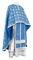 Greek Priest vestments - Lavra rayon brocade S3 (blue-silver), Standard design