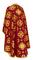 Greek Priest vestments - Kostroma rayon brocade S3 (claret-gold) back, Standard design
