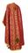 Greek Priest vestments - Vasilia rayon brocade S3 (claret-gold) back, Economy design