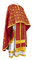 Greek Priest vestments - Lavra rayon brocade S3 (claret-gold), Standard design