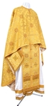 Greek Priest vestment -  rayon brocade S3 (yellow-claret-gold)