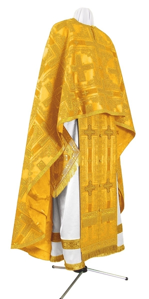 Greek Priest vestment -  rayon brocade S3 (yellow-gold)