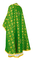 Greek Priest vestments - Lavra rayon brocade S3 (green-gold) back, Standard design