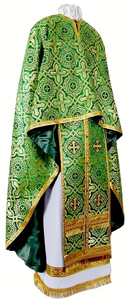 Greek Priest vestment -  rayon brocade S3 (green-gold)