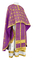 Greek Priest vestments - Lavra rayon brocade S3 (violet-gold), Standard design