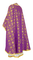 Greek Priest vestments - Lavra rayon brocade S3 (violet-gold) back, Standard design