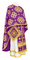 Greek Priest vestments - Kostroma rayon brocade S3 (violet-gold), Standard design