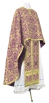 Greek Priest vestment -  rayon brocade S3 (violet-gold)