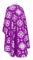Greek Priest vestments - Kostroma rayon brocade S3 (violet-silver) back, Standard design
