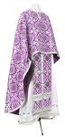 Greek Priest vestment -  rayon brocade S3 (violet-silver)
