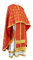 Greek Priest vestments - Lavra rayon brocade S3 (red-gold), Standard design