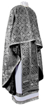 Greek Priest vestment -  rayon brocade S3 (black-silver)