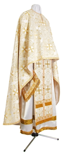 Greek Priest vestment -  rayon brocade S3 (white-gold)