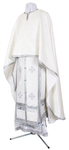 Greek Priest vestment -  rayon brocade S3 (white-silver)