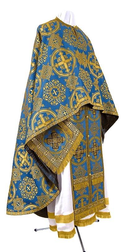 Orthodox Church liturgical Greek Priest clergy vestments (blue-gold