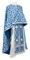 Greek Priest vestments - Cappadocia rayon brocade S4 (blue-silver), Standard design