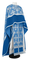Greek Priest vestments - Pskov rayon brocade S4 (blue-silver) with velvet inserts, Standard design