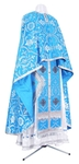 Greek Priest vestment -  rayon brocade S4 (blue-silver)