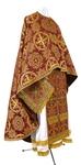 Greek Priest vestment -  rayon brocade S4 (claret-gold)
