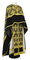 Greek Priest vestments - Pskov rayon brocade S4 (black-gold) with velvet inserts, Standard design