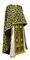 Greek Priest vestments - Cappadocia rayon brocade S4 (black-gold), Standard design