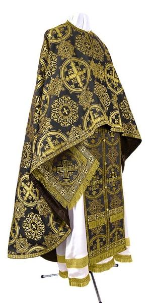 Greek Priest vestment -  rayon brocade S4 (black-gold)