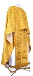 Greek Priest vestment -  rayon brocade S4 (yellow-claret-gold)