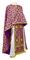 Greek Priest vestments - Cappadocia rayon brocade S4 (violet-gold), Standard design