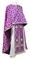 Greek Priest vestments - Cappadocia rayon brocade S4 (violet-silver), Standard design
