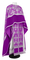 Greek Priest vestments - Pskov rayon brocade S4 (violet-silver) with velvet inserts, Standard design