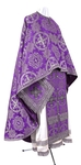Greek Priest vestment -  rayon brocade S4 (violet-silver)