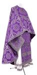 Greek Priest vestment -  rayon brocade S4 (violet-silver)