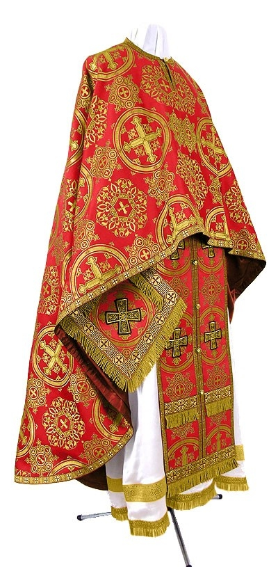 Orthodox Church liturgical Greek Priest clergy vestments (red-gold) by  Istok Church Supplies Corp.
