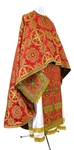 Greek Priest vestment -  rayon brocade S4 (red-gold)