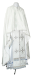 Greek Priest vestment -  rayon brocade S4 (white-silver)