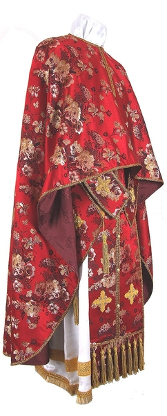 Greek Priest vestment -  rayon Chinese brocade (red-gold)