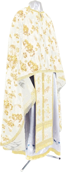 Greek Priest vestment -  rayon Chinese brocade (white-gold)