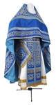 Embroidered Russian Priest vestments - Wattled (blue-gold)