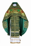 Embroidered Russian Priest vestments - Wattled (green-gold)