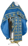 Embroidered Russian Priest vestments - Byzantine Eagle (blue-gold)