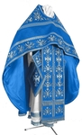 Embroidered Russian Priest vestments - Byzantine Eagle (blue-silver)