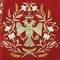 Embroidered Russian Priest vestments - Byzantine Eagle (red-gold) (detail), Premium design