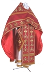 Embroidered Russian Priest vestments - Byzantine Eagle (red-gold)