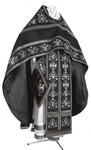 Embroidered Russian Priest vestments - Byzantine Eagle (black-silver)