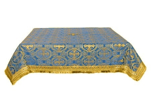 Holy Table cover - brocade B (blue-gold)