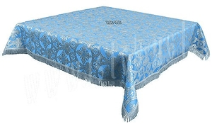 Holy Table cover - brocade B (blue-silver)