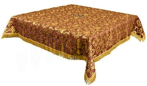 Holy Table cover - brocade B (claret-gold)