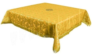 Holy Table cover - brocade B (yellow-gold)